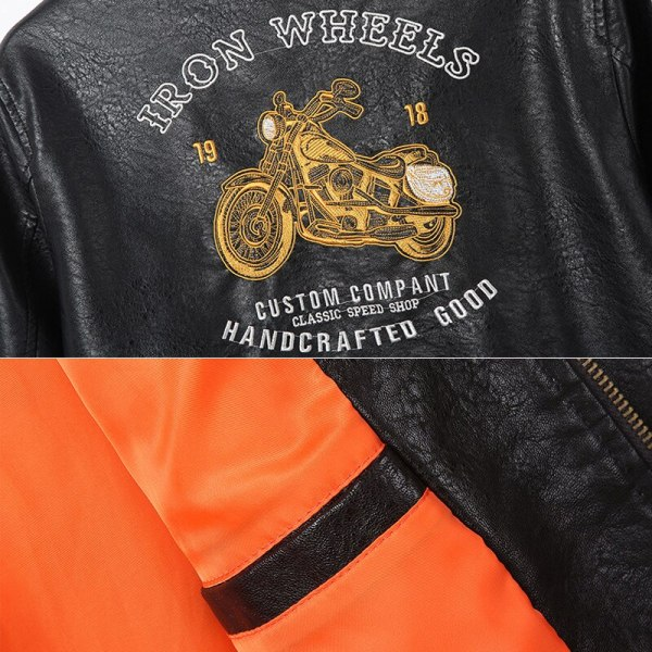 Men s Leather Jackets and Coats Male Motorcycle Leather Jacket Casual Slim Brand Clothing V Neck 4 Men's Leather Jackets and Coats Male Motorcycle Leather Jacket Casual Slim Brand Clothing V-Neck Collar Coats