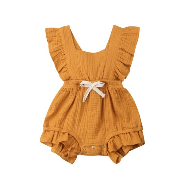Newborn Baby Girls Ruffle Solid Color Romper Backcross Jumpsuit Outfits Sunsuit Baby Clothing 3 Newborn Baby Girls Ruffle Solid Color Romper Backcross Jumpsuit Outfits Sunsuit Baby Clothing