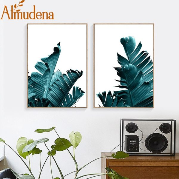 Nordic Pineapple Green Leaves Canvas Painting Wall Art Poster Home Decoration Posters And Prints Plant Pictures 1 Nordic Pineapple Green Leaves Canvas Painting Wall Art Poster Home Decoration Posters And Prints Plant Pictures for Living Room