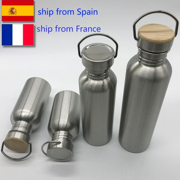 Portable Stainless Steel Water Bottle Bamboo Lid Sports Flasks Leak proof Travel Cycling 1000ml 750ml Camping Portable Stainless Steel Water Bottle Bamboo Lid Sports Flasks Leak-proof Travel Cycling 1000ml/750ml Camping Bottles BPA Free
