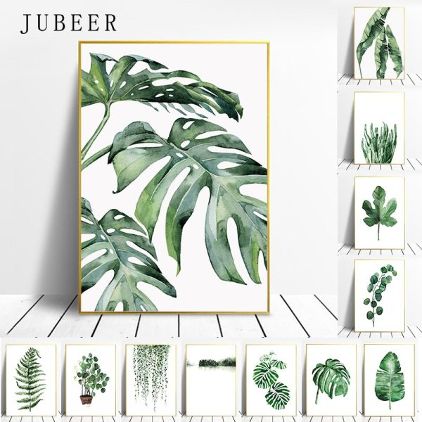 Scandinavian Style Tropical Plants Poster Green Leaves Decorative Picture Modern Wall Art Paintings for Living Room Scandinavian Style Tropical Plants Poster Green Leaves Decorative Picture Modern Wall Art Paintings for Living Room Home Decor