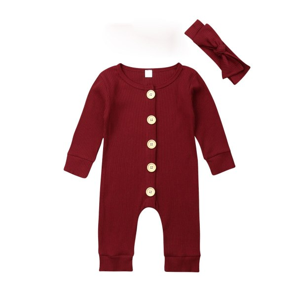 Spring Fall Newborn Baby Girl Boy Clothes Long Sleeve Knitted Romper Headband Jumpsuit 2PCS Outfit 0 3 Spring Fall Newborn Baby Girl Boy Clothes Long Sleeve Knitted Romper + Headband Jumpsuit 2PCS Outfit 0-24M