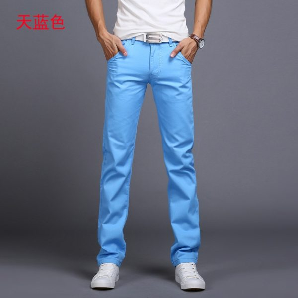 TANGYAXUAN New Design Casual Men pants Cotton Slim Pant Straight Trousers Fashion Business Solid Khaki Black 2 TANGYAXUAN New Design Casual Men pants Cotton Slim Pant Straight Trousers Fashion Business Solid Khaki Black Pants Men 28-38