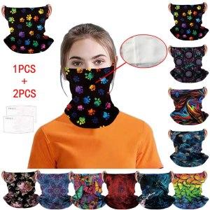 Unisex Neck Multifunctional Mounting Ear Headband Breathable Face Cover Bandanas Cotton Protective Children Kid Cartoon Cute Innrech Market.com