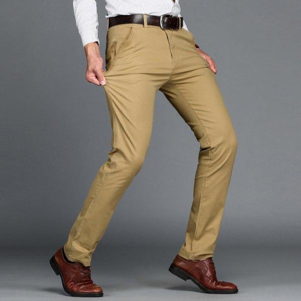 VOMINT Mens Pants High Quality Cotton Casual Pants Stretch male trousers man long Straight 4 color 2 VOMINT Mens Pants High Quality Cotton Casual Pants Stretch male trousers man long Straight 4 color Plus size pant suit 42 44 46