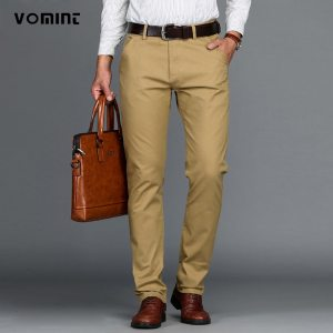 VOMINT Mens Pants High Quality Cotton Casual Pants Stretch male trousers man long Straight 4 color Innrech Market.com