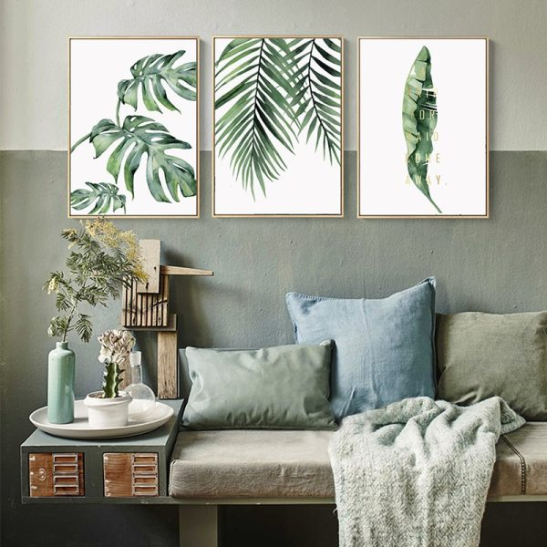 Watercolor Plant Green Leaves Canvas Painting Art Print Poster Picture Wall Modern Minimalist Bedroom Living Room Watercolor Plant Green Leaves Canvas Painting Art Print Poster Picture Wall Modern Minimalist Bedroom Living Room Decoration