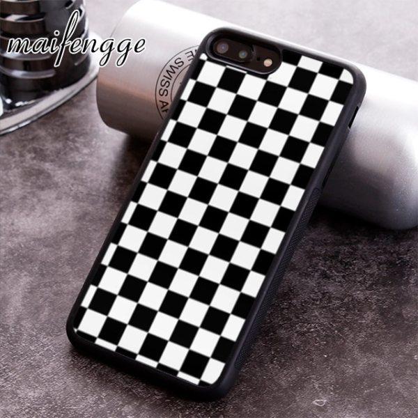 maifengge Checkerboard Plaid Checkered phone Case cover For iPhone 5 6 6s 7 8 plus 11 maifengge Checkerboard Plaid Checkered phone Case cover For iPhone 5 6 6s 7 8 plus 11 pro X XR XS max Samsung S7 edge S8 S9 S10