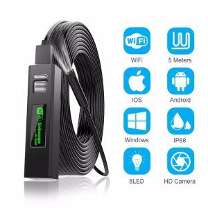 1200P Endoscope Camera Wireless Endoscope 2 0 MP HD Borescope Rigid Snake Cable for IOS iPhone Innrech Market.com