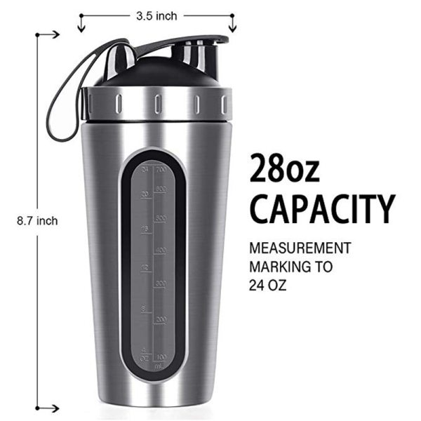 28OZ Whey Protein Powder Sports Shaker Bottle For Water Bottles Gym Nutrition Blender Cup Stainless Steel 4 28OZ Whey Protein Powder Sports Shaker Bottle For Water Bottles Gym Nutrition Blender Cup Stainless Steel Vacuum Insulation