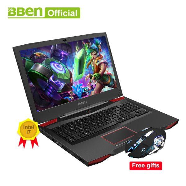 BBEN G17 17 3 inch Gaming Laptop i7 cpu GDDR5 NVIDIA GTX1060 Windows10 DDR4 32GB 512GB BBEN G17 17.3 inch Gaming Laptop i7 cpu GDDR5 NVIDIA GTX1060 Windows10 DDR4 32GB+512GB SSD+1TB HDD RGB Mechanical Keyboard