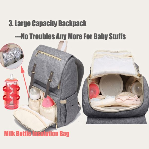Baby Diaper Bag with USB Port Waterproof Nappy Bag Mommy Backpack Laptop Bag Maternity Bags With 1 Baby Diaper Bag with USB Port Waterproof Nappy Bag Mommy Backpack Laptop Bag Maternity Bags With Rechargeable Bottle Holder