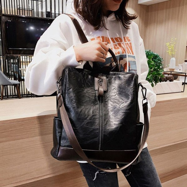 Fashion Women High Quality Leather Backpack Multifunction Leatherett Backpack For Female Big Bookbag Travel Bag Sac 3 Fashion Women High Quality Leather Backpack Multifunction Leatherett Backpack For Female Big Bookbag Travel Bag Sac A Dos XA279H
