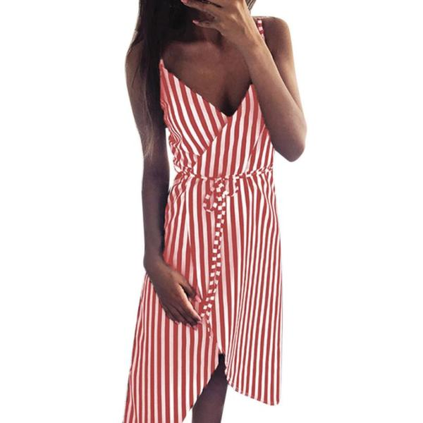 KANCOOLD dress Women Stripe Printing Sleeveless Off Shoulder Dress Evening Party Vest Empire Sashes dress women 4 KANCOOLD dress Women Stripe Printing Sleeveless Off Shoulder Dress Evening Party Vest Empire Sashes dress women 2018AUG1