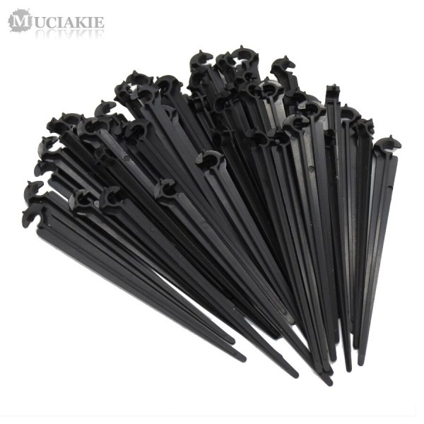 MUCIAKIE 50PCS C Shape Garden 4 7mm Drip Irrigation Tube Pipe Support Bracket Holders Fixed Stems MUCIAKIE 50PCS C Shape Garden 4/7mm Drip Irrigation Tube Pipe Support Bracket Holders Fixed Stems Drip Irrigation Accessories