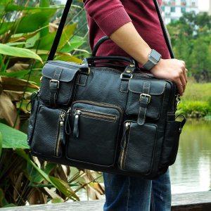 Men Real Leather Antique Large Capacity Travel Briefcase Business 15 6 Laptop Case Attache Messenger Bag Innrech Market.com