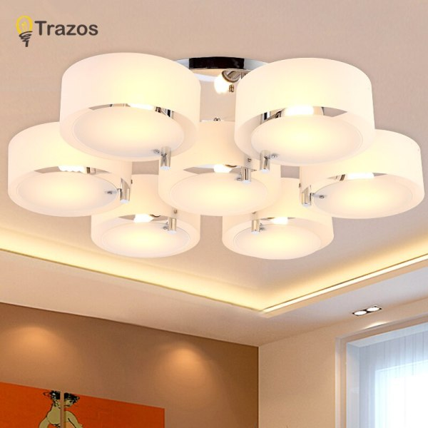 NEW 2019 Modern Ceiling Lights modern fashionable design dining room lamp pendente de teto de cristal 1 NEW 2019 Modern Ceiling Lights modern fashionable design dining room lamp pendente de teto de cristal white shade acrylic lustre