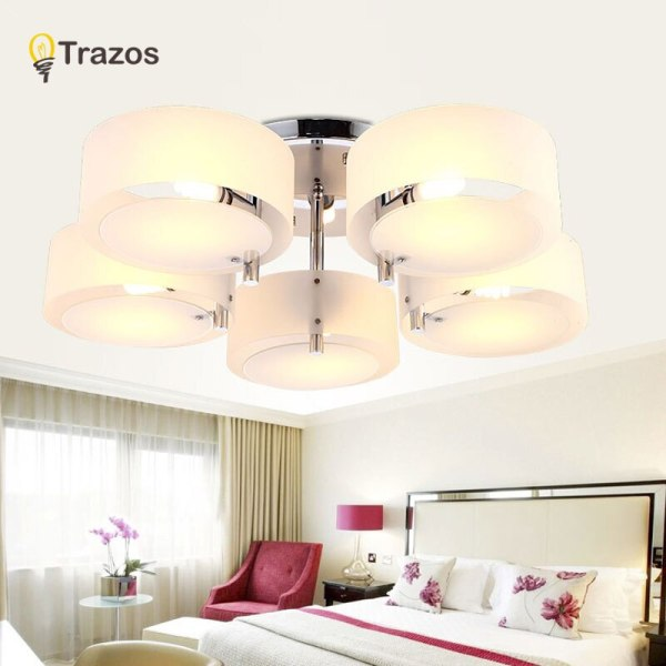 NEW 2019 Modern Ceiling Lights modern fashionable design dining room lamp pendente de teto de cristal 3 NEW 2019 Modern Ceiling Lights modern fashionable design dining room lamp pendente de teto de cristal white shade acrylic lustre