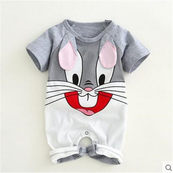 Newborn baby cotton rompers lovely Rabbit ears baby boy girls short sleeve baby costume Jumpsuits Roupas Newborn baby cotton rompers lovely Rabbit ears baby boy girls short sleeve baby costume Jumpsuits Roupas Bebes Infant Clothes
