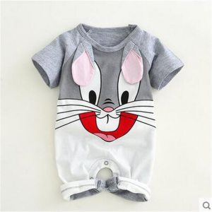 Newborn baby cotton rompers lovely Rabbit ears baby boy girls short sleeve baby costume Jumpsuits Roupas Innrech Market.com