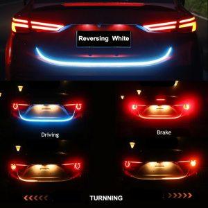 Niscarda Car Additional Stop Light Dynamic Streamer Floating LED Strip 12v Auto Trunk Tail Brake Running Innrech Market.com