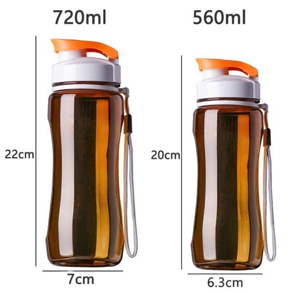 Plastic Sports Water Bottles Sport Drinking Bottles Portable Tea Bottle 19oz 24oz 4 Plastic Sports Water Bottles, Sport Drinking Bottles, Portable Tea Bottle, 19oz & 24oz