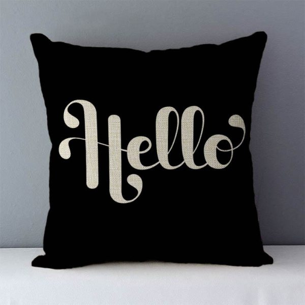 """Popular phrase words letters printed couch cushion home decorative pillows 45x45cm cotton linen square cushions Love 4 Popular phrase words letters printed couch cushion home decorative pillows 45x45cm cotton linen square cushions """"Love you more"""""""