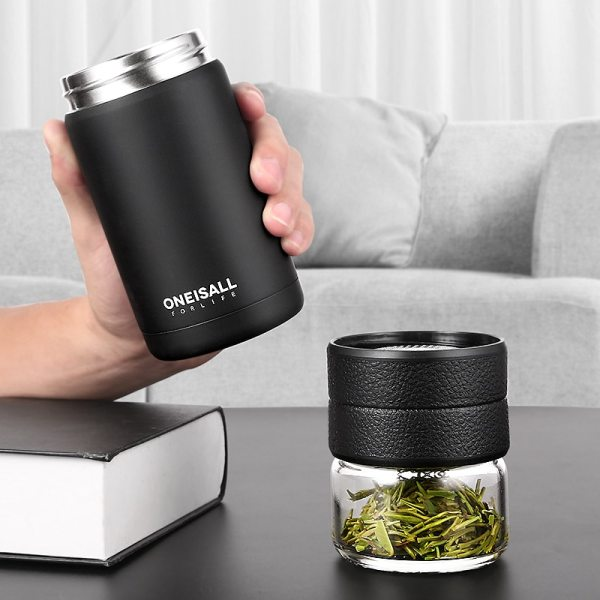 Thermos Bottle Stainless Steel Tea Partition Thermo Cup Glass Tea Strainer Thermos Mug Bottle Vacuum flask 1 Thermos Bottle Stainless Steel Tea Partition Thermo Cup Glass Tea Strainer Thermos Mug Bottle Vacuum flask Bottles 400ml + 200ml