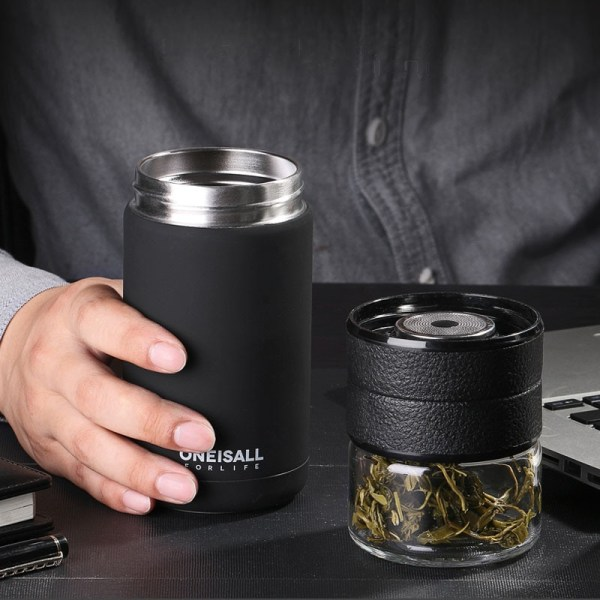 Thermos Bottle Stainless Steel Tea Partition Thermo Cup Glass Tea Strainer Thermos Mug Bottle Vacuum flask 2 Thermos Bottle Stainless Steel Tea Partition Thermo Cup Glass Tea Strainer Thermos Mug Bottle Vacuum flask Bottles 400ml + 200ml
