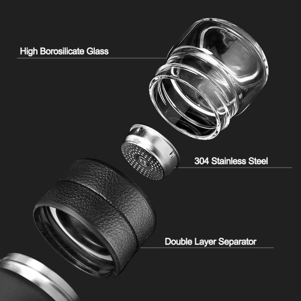 Thermos Bottle Stainless Steel Tea Partition Thermo Cup Glass Tea Strainer Thermos Mug Bottle Vacuum flask 5 Thermos Bottle Stainless Steel Tea Partition Thermo Cup Glass Tea Strainer Thermos Mug Bottle Vacuum flask Bottles 400ml + 200ml