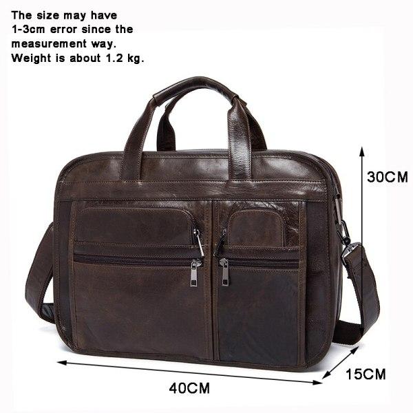 WESTAL men s genuine leather bag for men s briefcase office bags for men leather laptop 1 WESTAL men's genuine leather bag for men's briefcase office bags for men leather laptop bag document business briefcase handbag