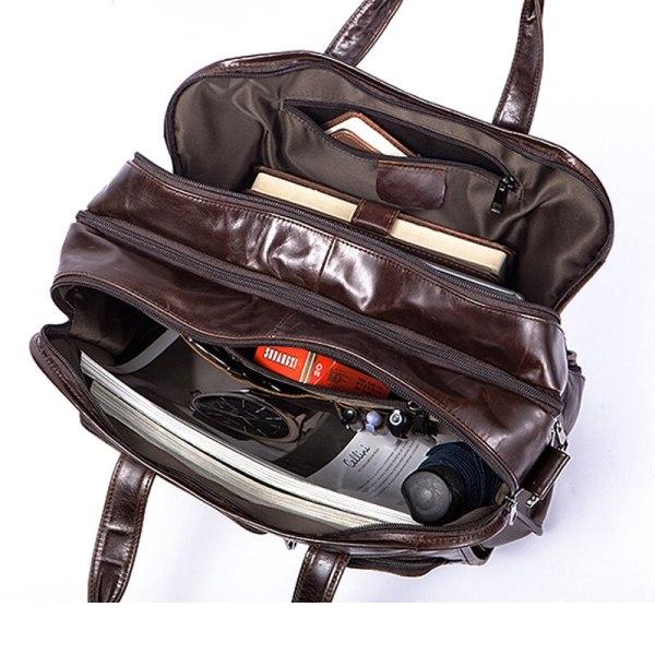 WESTAL men s genuine leather bag for men s briefcase office bags for men leather laptop 3 WESTAL men's genuine leather bag for men's briefcase office bags for men leather laptop bag document business briefcase handbag