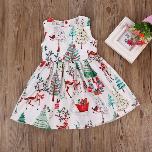 1 7Years Christmas Dress Kids Baby Girl Deer Sleeveless Party Dress Princess Tutu Dress Xmas New 1 1-7Years Christmas Dress Kids Baby Girl Deer Sleeveless Party Dress Princess Tutu Dress Xmas New Fashion Clothing