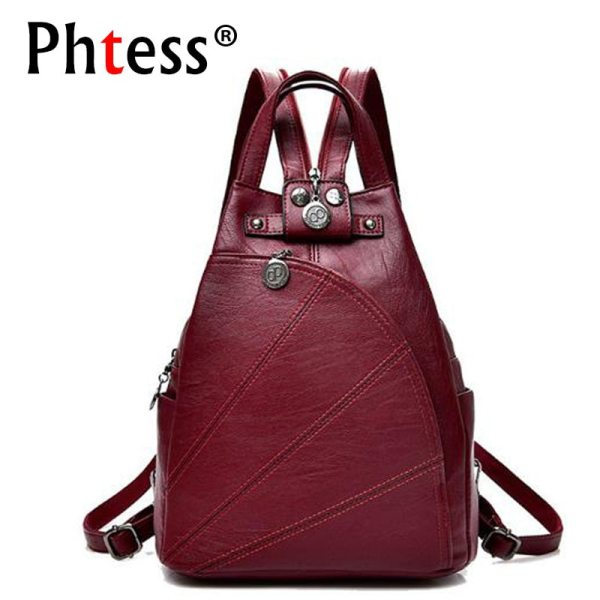 2019 Women Anti theft Leather Backpacks Female Ladies Backpacks For School Retro Sac a Dos Femme 2019 Women Anti-theft Leather Backpacks Female Ladies Backpacks For School Retro Sac a Dos Femme Female School Shoulder Bags