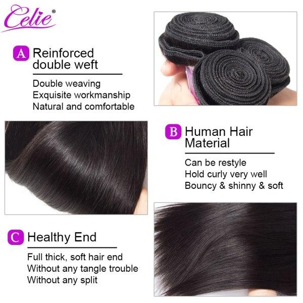 Celie Hair Brazilian Hair Weave Bundles With Closure Straight Hair Bundles With Closure Remy Human Hair 2 Celie Hair Brazilian Hair Weave Bundles With Closure Straight Hair Bundles With Closure Remy Human Hair Bundles With Closure