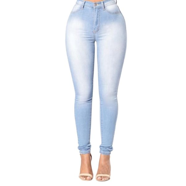 High Quality Fashion Women High Waist Elastic Skinny Jeans Slim Fit Washed Denim Cowboy Streetwear Long 4 High Quality Fashion Women High Waist Elastic Skinny Jeans Slim Fit Washed Denim Cowboy Streetwear Long Pencil Pants Trousers