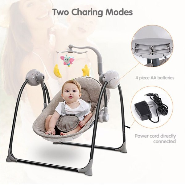 IMBABY Baby Rocking Chair Baby Swing Electric Baby Cradle With Remote Control Cradle Rocking Chair For 1 IMBABY Baby Rocking Chair Baby Swing Electric Baby Cradle With Remote Control Cradle  Rocking Chair For Newborns Swing Chair