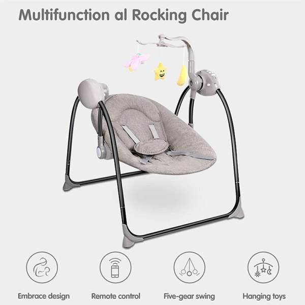 IMBABY Baby Rocking Chair Baby Swing Electric Baby Cradle With Remote Control Cradle Rocking Chair For 4 IMBABY Baby Rocking Chair Baby Swing Electric Baby Cradle With Remote Control Cradle  Rocking Chair For Newborns Swing Chair