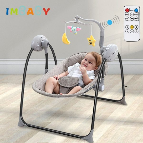 IMBABY Baby Rocking Chair Baby Swing Electric Baby Cradle With Remote Control Cradle Rocking Chair For IMBABY Baby Rocking Chair Baby Swing Electric Baby Cradle With Remote Control Cradle  Rocking Chair For Newborns Swing Chair