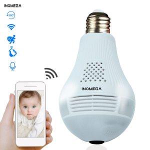 INQMEGA 360 Degree LED Light 960P Wireless Panoramic Home Security Security WiFi CCTV Fisheye Bulb Lamp Innrech Market.com