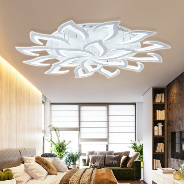 IRALAN modern led ceiling lights for living room kitchen bedroom kids room dimmable lamp art deco IRALAN modern led ceiling lights for living room kitchen bedroom kids' room  dimmable lamp art deco fixture with remote control