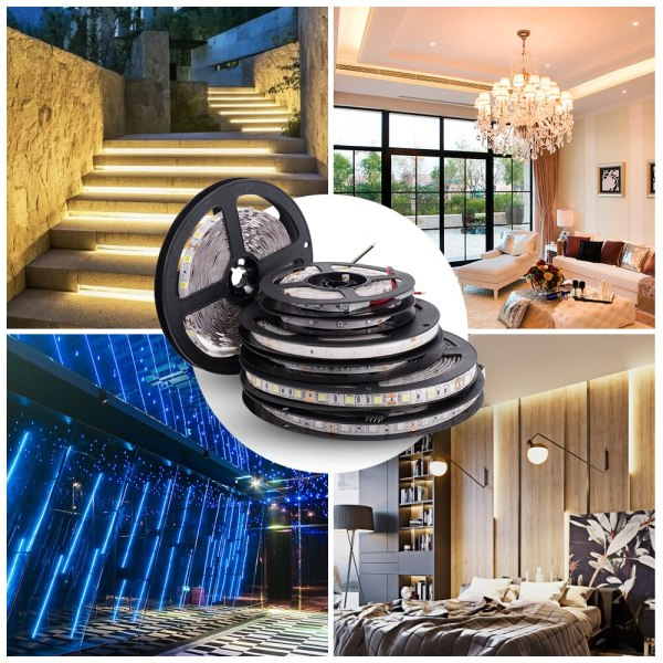 LUCKYLED 5M LED Strip 12v RGB Waterproof 5050 2835 SMD Diode RGB Tape Ribbon Flexible LED 3 LUCKYLED 5M LED Strip 12v RGB Waterproof 5050 2835 SMD Diode RGB Tape Ribbon Flexible LED Light Strip 60leds/m LED Stripe