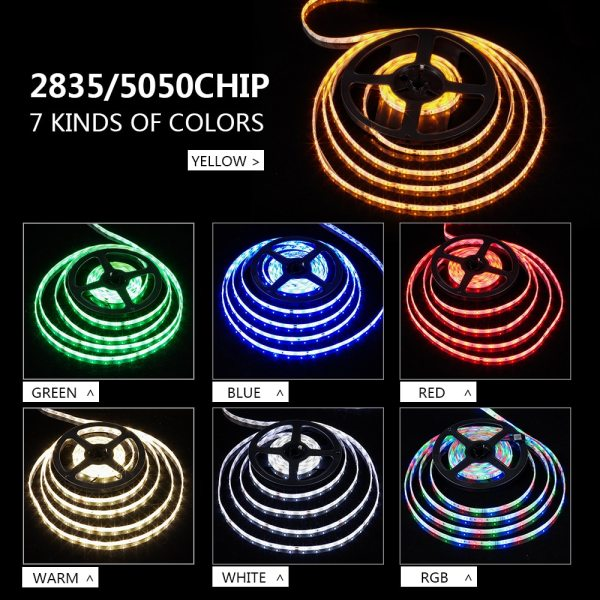 LUCKYLED 5M LED Strip 12v RGB Waterproof 5050 2835 SMD Diode RGB Tape Ribbon Flexible LED 4 LUCKYLED 5M LED Strip 12v RGB Waterproof 5050 2835 SMD Diode RGB Tape Ribbon Flexible LED Light Strip 60leds/m LED Stripe