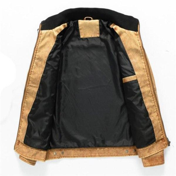 Men s Military Bomber Leather Jackets 2019 New Autumn Winter Thick Warm Tactical Pilot Multi Pocket 1 Men's Military Bomber Leather Jackets 2019 New Autumn Winter Thick Warm Tactical Pilot Multi-Pocket Leather Jacket Coat 4XL 5XL
