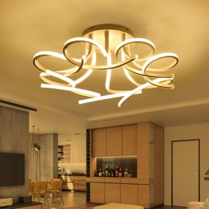 New Design Acrylic lotus Led Ceiling Lights For Living Study Room Bedroom lampe plafond avize Indoor Innrech Market.com