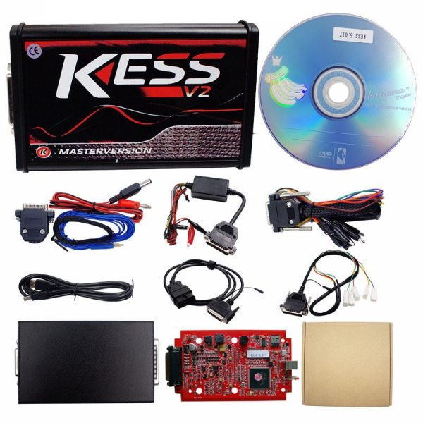 Online V2 47 EU Red Kess V5 017 OBD2 Manager Tuning Kit KTAG V7 020 4 1 Online V2.47 EU Red Kess V5.017 OBD2 Manager Tuning Kit KTAG V7.020 4 LED Kess V2 5.017 BDM Frame K-TAG V2.25 ECU Programmer