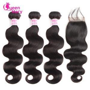 Peruvian Hair Bundles with Closure Body Wave Bundles with Closure 3 Bundles with Closure Queen Mary Innrech Market.com