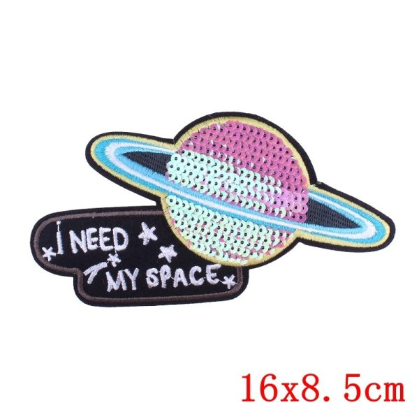Prajna Cartoon Unicorn Planet Things Iron On Patches For Clothing Embroidery Stripe On Clothes Cute DIY 1 Prajna Cartoon Unicorn Planet Things Iron On Patches For Clothing Embroidery Stripe On Clothes Cute DIY Sequin Applique Badge