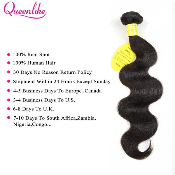 QueenLike Hair Products Brazilian Body Wave With Closure Non Remy Hair Weft Weaving 3 4 Bundles 1 QueenLike Hair Products Brazilian Body Wave With Closure Non Remy Hair Weft Weaving 3 4 Bundles Human Hair Bundles With Closure