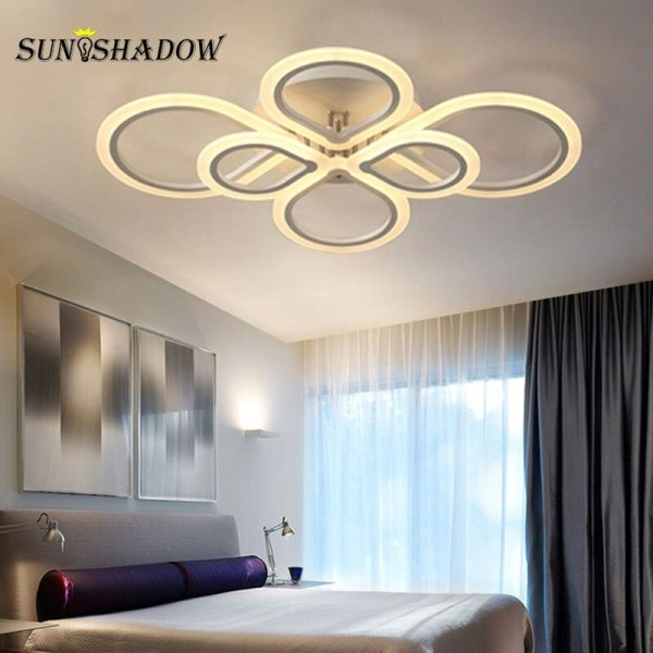Rings Modern Led Ceiling Light For Living room Bedroom Luminaires Black White Acrylic Surface Mounted Chandelier 3 Lamps Plus Chandeliers | Crystal Ceiling Lights | Rings Modern Led Ceiling Light For Living room Bedroom Luminaires Black White Acrylic Surface Mounted Chandelier Ceiling Lamps 001